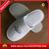 Hotel Slipper, Logo Printed Customized Promotional Hotel Slipper, White Airline Slippers