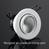 AC100-240V 9W Adjustable COB LED Down Lights with Ce RoHS