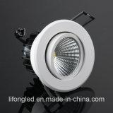 AC220V CRI90 9W Dali Dimming System COB LED Downlight