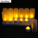 Remote Control Rechargeable 12 LED Candle Holders