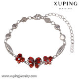 74345 Fashion Cubic Zirconia Butterfly Jewelry Bracelet for Women in Rhodium-Plated