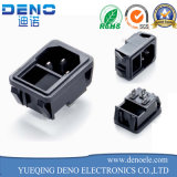 Black 3 Pin Fused Power Socket with Switch 10A AC 250V