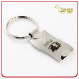 Die Casting Zinc Alloy Embossed Metal Keyring for Souvenir