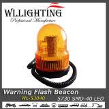 40 LED Strobe Warning Flash Light Beacon Rotating Light Amber