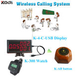 Wireless Service Calling Buzzer System Suit for Restaurant Hotel