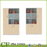 3-Doors Cabinet Wooden Furniture Filie Cabinet with Glass Door