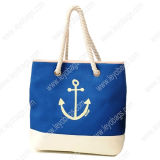 Fashion Promotional Ladies Cotton Canvas Handbag Tote Bag for Shopping and Beach