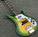 Rickenback 4 Strings Green Burst Electric Bass Guitar (GB-47)