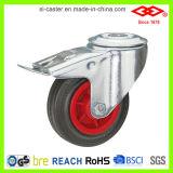 160mm Black Rubber Swivel Locking Castor Wheel (G102-31D160X40S)