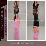 Fashion Lady Lace Maxi Dress Evening Cocktail Dress (T6676)