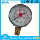 63mm 2.5inch Plastic Case with Red Pointer Pressure Gauge