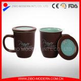 Color Porcelain Ceramic Coffee Mug with Lid