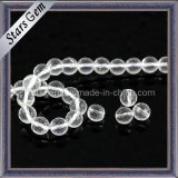 Round Faceted Cut Natural Crystal Beads