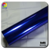 Tsautop Blue Hot Sale High Strechable Mirror Chrome Film