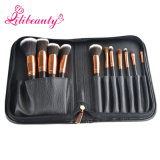 11PCS Portable Travel Rose Gold Cosmetic Makeup Brush