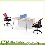 MFC Board Aluminum Leg Ergonomic Modern 2 Seat Office Workstation Partition for Staff