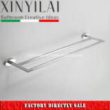 Unique Bathroom Style Chrome Plating Brass Double Towel Bars