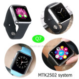 Mtk2502 System Smart Watch Phone with Bluetooth 4.0 Q7