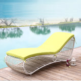 Beach Swimming Pool Outdoor Lounger Chair Wicker / Rattan Sun Lounger / Rattan Sun Bed T527