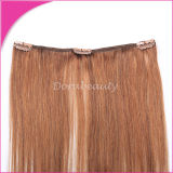 Indian Virgin Human Hair Extensions Clips in Hair Weft