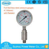 100mm Stainless Steel Pressure Gauge with Radiator and Siphon