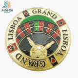 Custom Supply Die-Cut Enamel Lottery Poker Gold Coin for Promotion