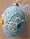 Multi-Color Glass Egg Ornament for Eastern Decoration