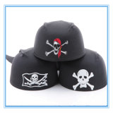 Halloween Party Supplies - Round Pirate Captain Hat