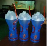 Craft Plastic Drinking Cup/Plastic Ice Dome Cup with Straw