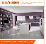 Elegent Color PVC Membrane Vinyl Wrapped Kitchen Cupboards