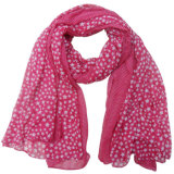 Lady Polyester Voile Fashion Printed Silk Scarf (YKY4211)