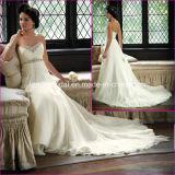 Strapless Chiffon Elegant Maternity Bridal Wedding Gown (A09)