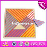 New Design Kids Brain Teaser Wooden Puzzle Tangram W11d004