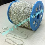 """20"""" Brilliant 1.5mm Silver Metal Ball Chain Necklace"""