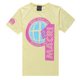 Latest Fashion Mens Yellow T Shirt with Printing