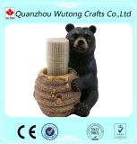 Lovely Resin Black Bear Toothpick Holder Home Table Decoration