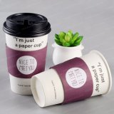Custom Printed Disposable Eco-Friend Double Wall Hot Coffee Paper Cups