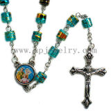 Glass Rosary Necklace (URO1-012)