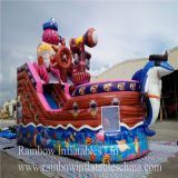 Rainbow Hot Sale Inflatable Pirate Boat