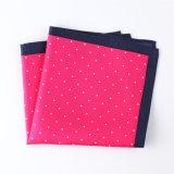 Fashionable Silk Polyester Dots Printed Pocket Square Hanky Handkerchief (SH62A)