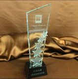 Cheap Crystal Glass Star Trophy for Souvenir