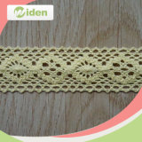 Eco-Friendly Yellow Cotton Crochet Lace Material
