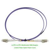 Purple LC/LC Duplex Om4 Fiber Optic Patch Cord