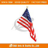Custom Promotion National Hand Flag with Pole
