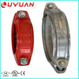 "Grooved Coupling and Flexible Pipe Fitting with 1-1/2"" Galvanized"
