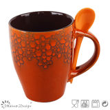 11oz Reactive Glazing Ceramic Mug with Spoon Wholesale