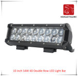 LED Car Light of 10 Inch 54W 4D Double Row LED Light Bar Waterproof for SUV Car LED off Road Light and LED Driving Light