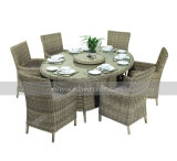Mtc-020-1 6 Seaters Rattan/Wicker Dining Set for Outdoor