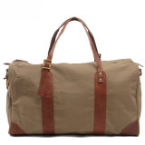 Leather Canvas Weekend Sport Duffel Bag (RS-2095B)