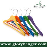 2016 Hot Sale Colorful Wooden Coat Hanger, Shirt Hanger